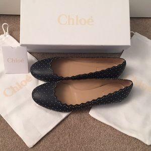 Cholé Black Studded Lauren Ballet Flats